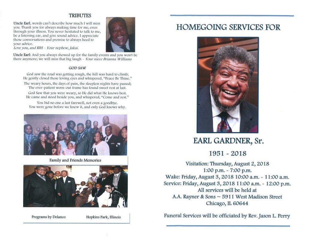 Earl Gardner Sr Obituary
