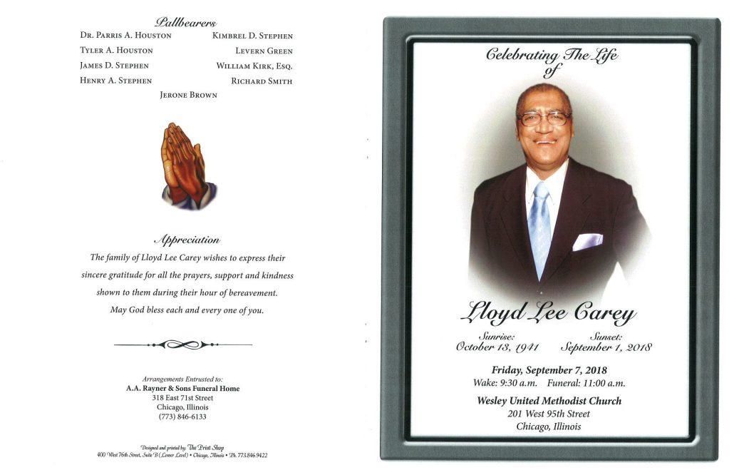 Lloyd Lee Carey Obituary