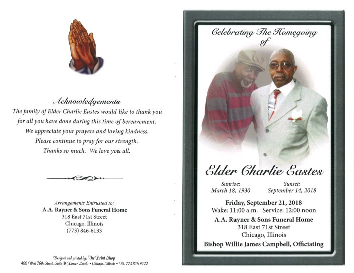Elder Charlie Eastes Obituary