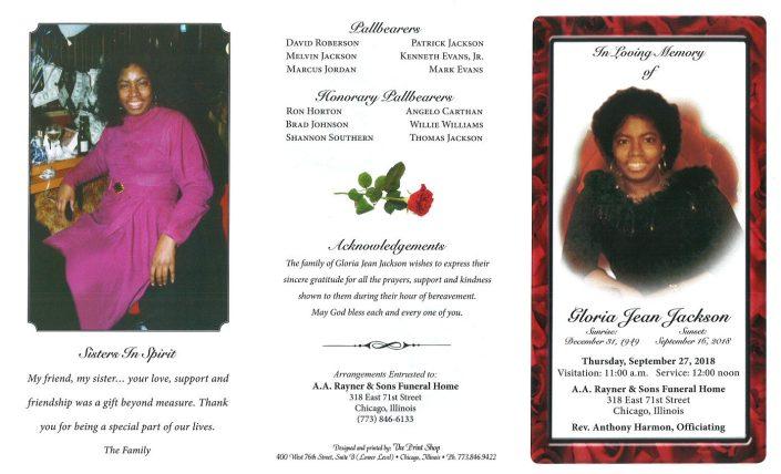 Gloria Jean Jackson Obituary