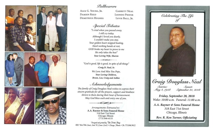 Craig Douglass Neal Obituary