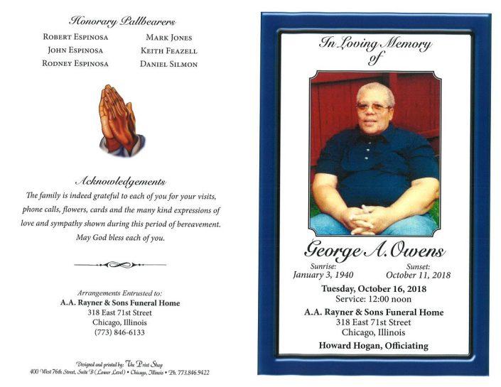 George A Owens Obituary