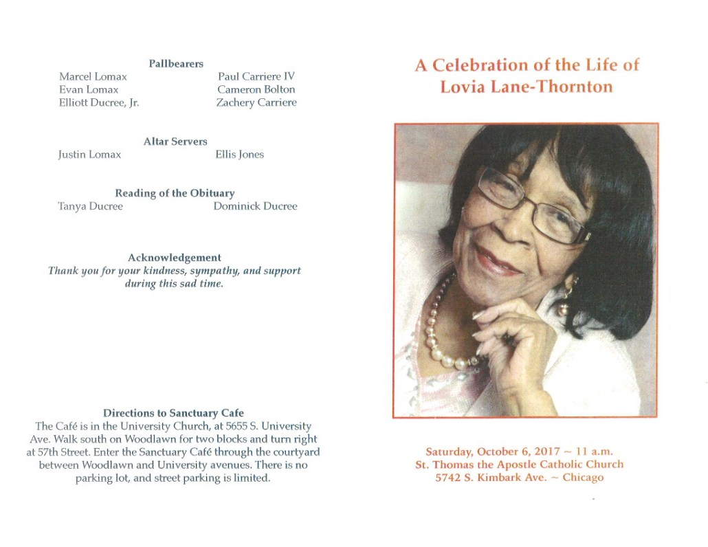 Lovia Lane Thornton Obituary