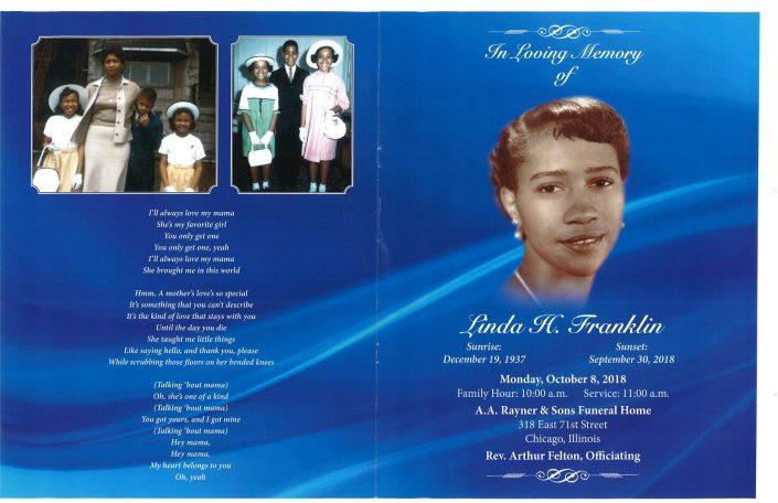 Linda H Franklin Obituary