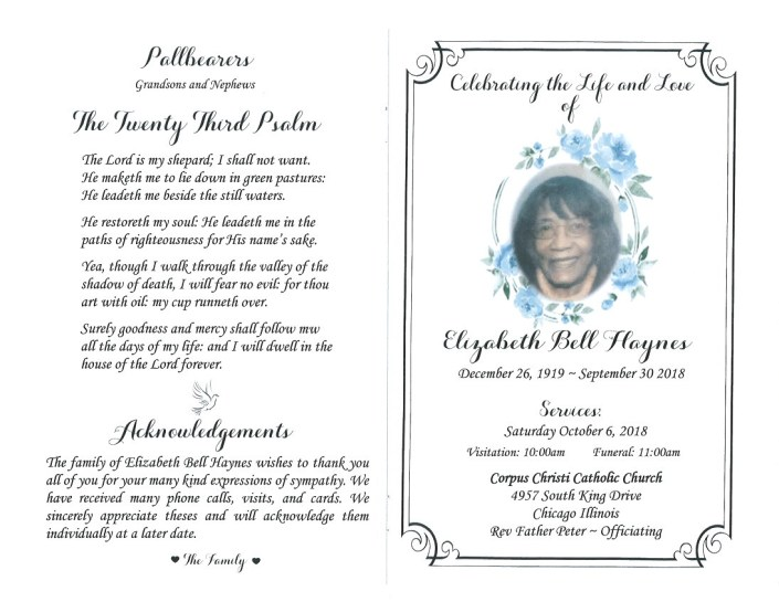 Elizabeth Bell Haynes Obituary