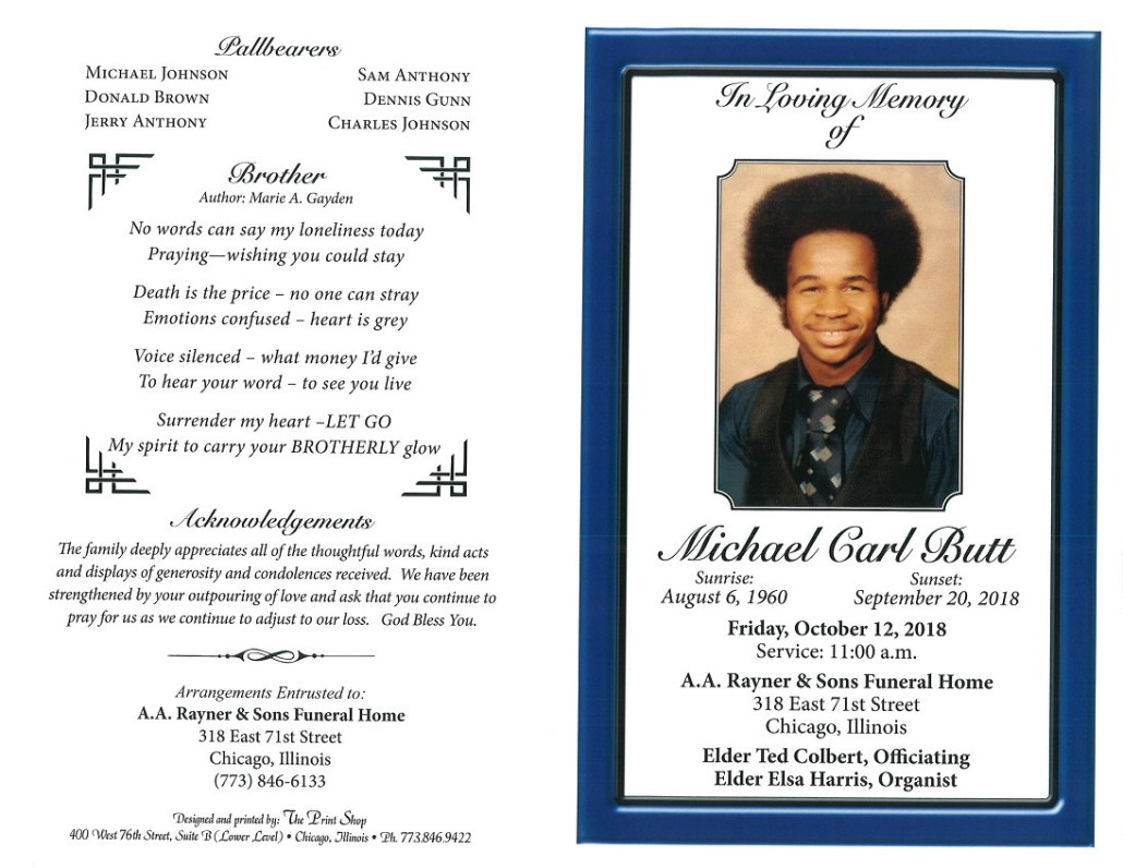 Michael Carl Butt Obituary
