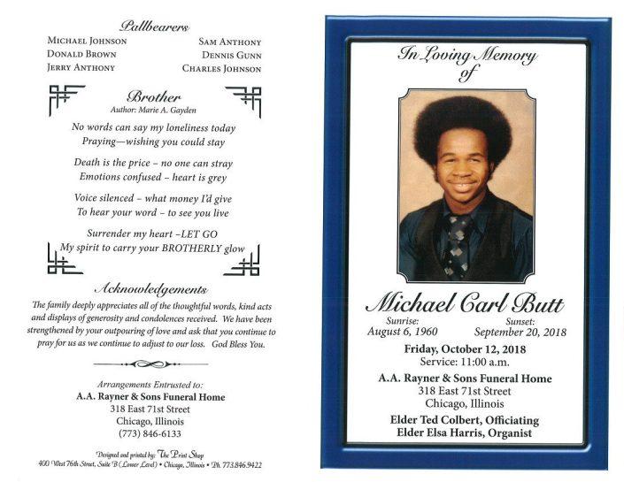 Michael Carl Butt Obituary