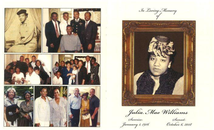 Julia Mae Williams Obituary