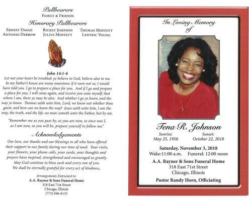 Tena R Johnson Obituary