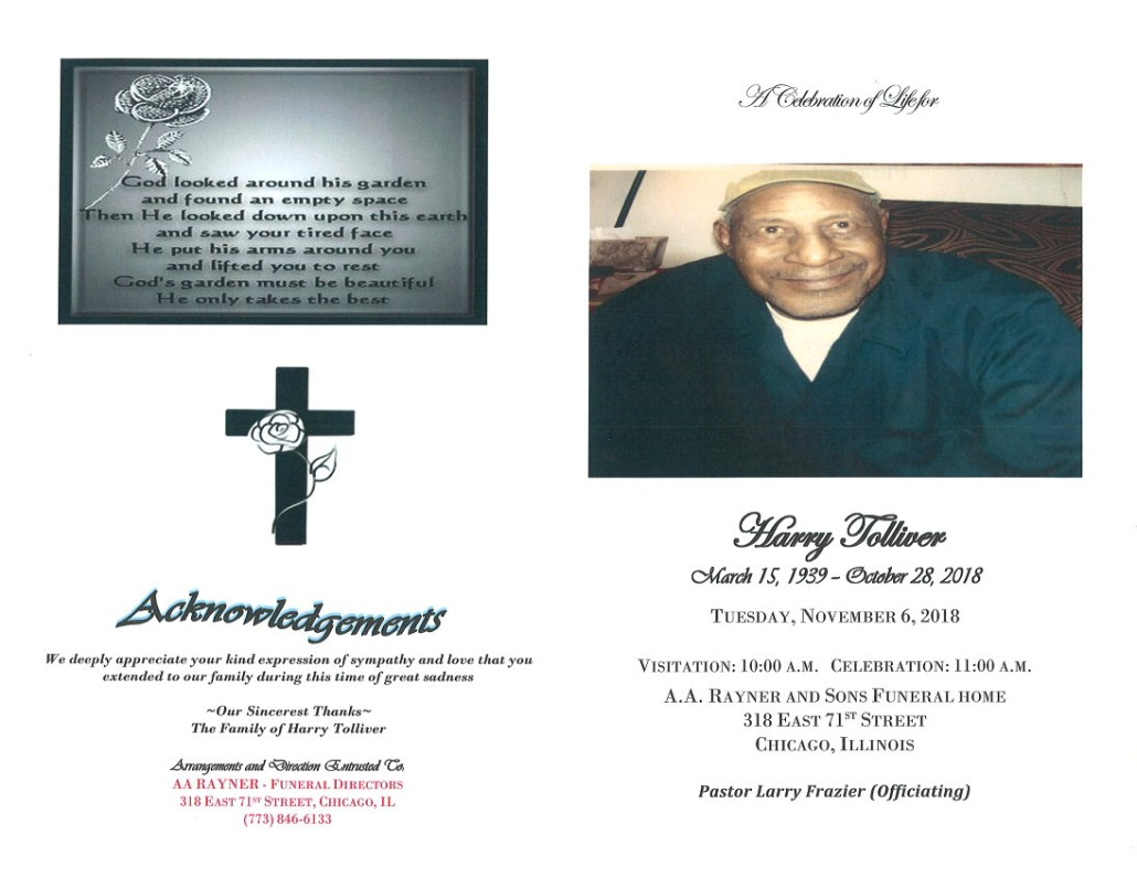 Harry Tolliver Obituary