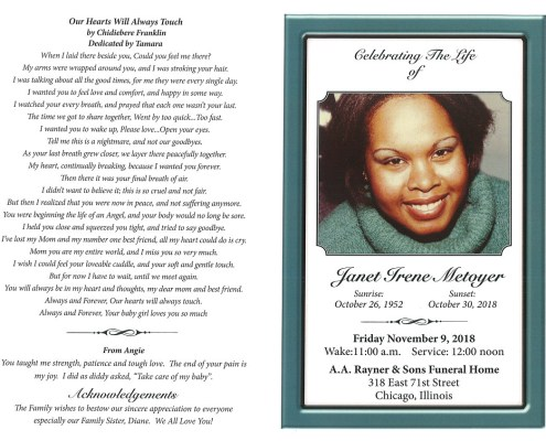 Janet Irene Metoyer Obituary