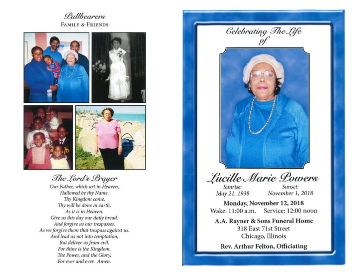 Lucille Marie Powers Obituary