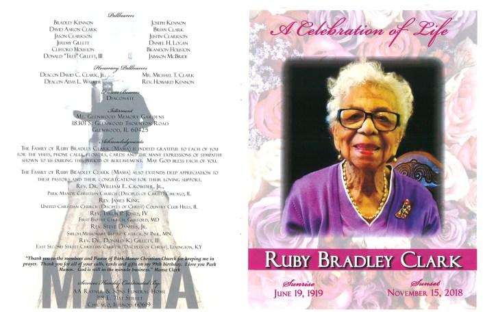 Ruby Bradley Clark Obituary