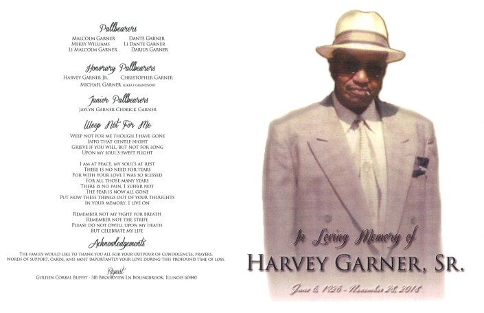 Harvey Garner Sr Obituary