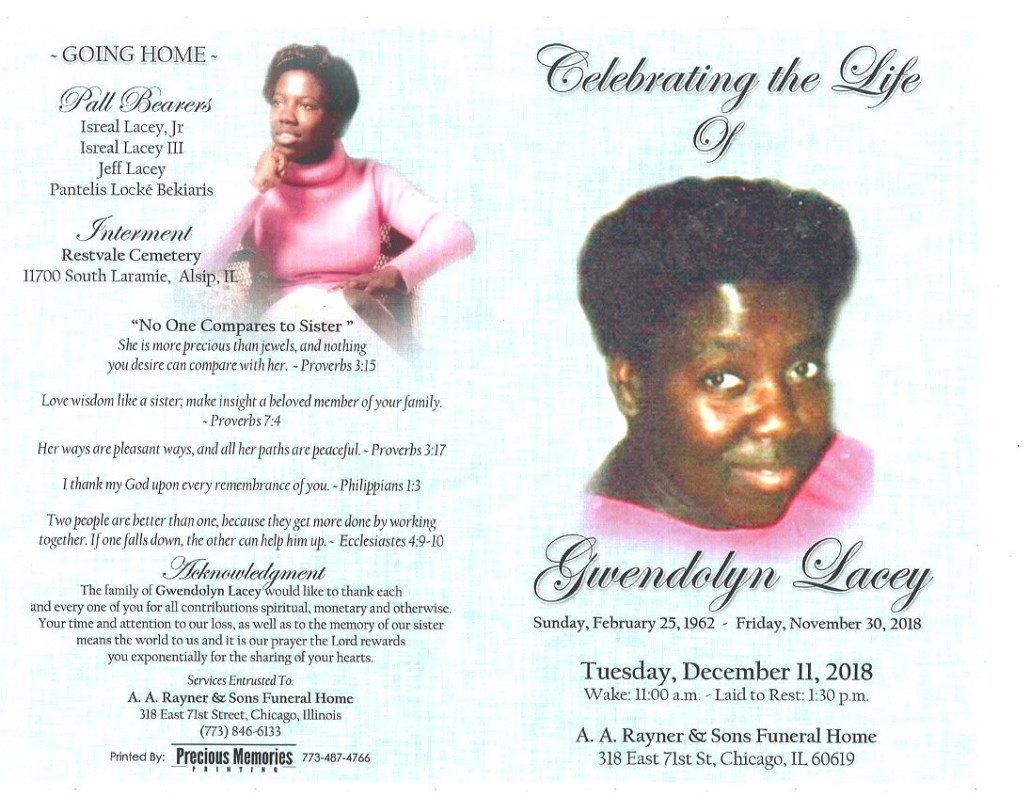 Gwendolyn Lacey Obituary