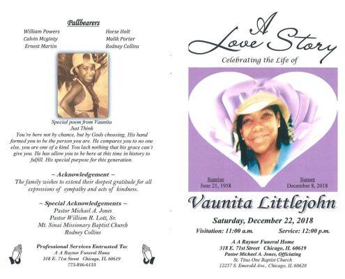 Vaunita Littlejohn Obituary