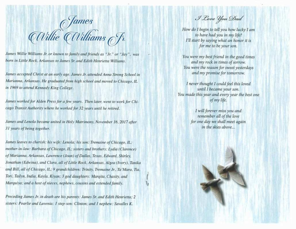 James Willie Williams Jr Obituary