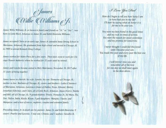 James Willie Williams Jr Obituary
