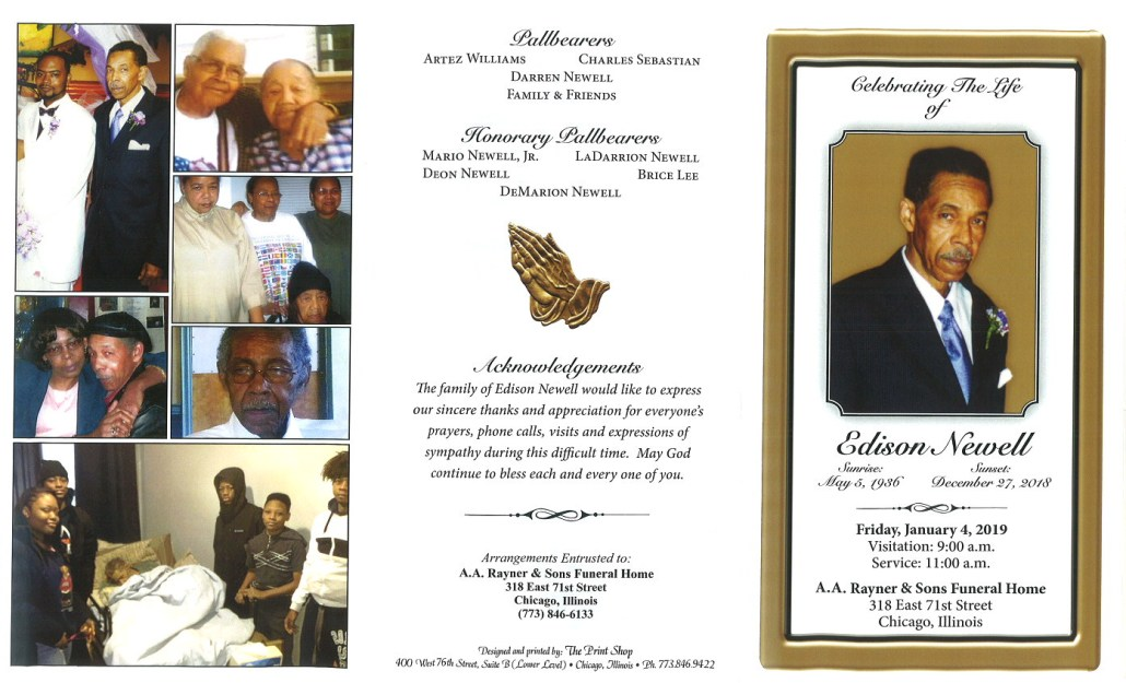 Edison Newell Obituary