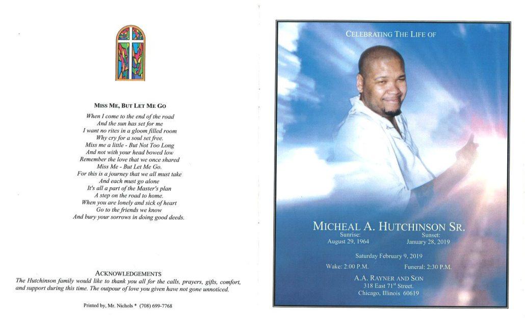 Michael A Hutchinson Sr Obituary