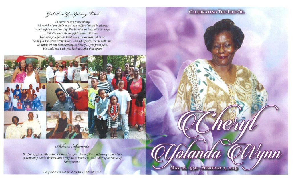 Cheryl Yolanda Wynn Obituary
