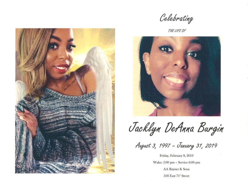 Jacklyn Deanna Burgin Obituary