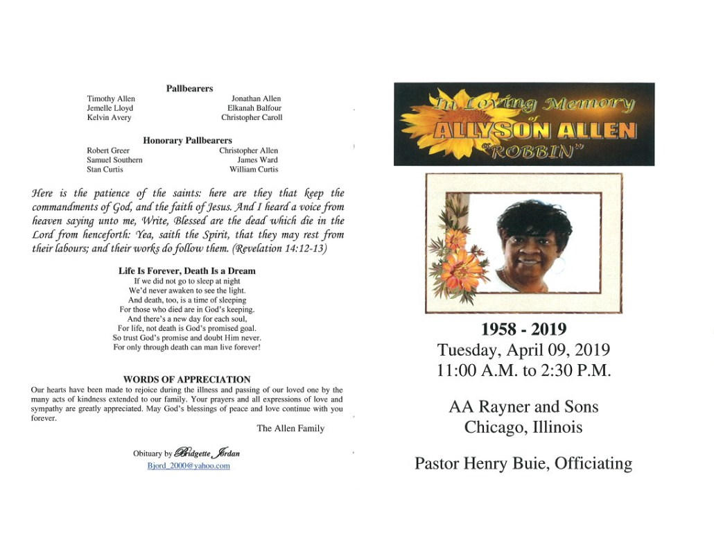 Allyson Allen Obituary
