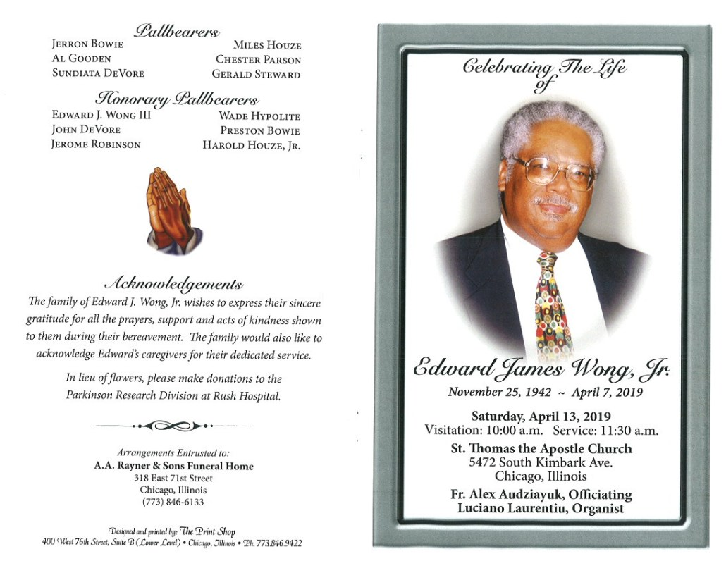 Edward James Wong Jr Obituary
