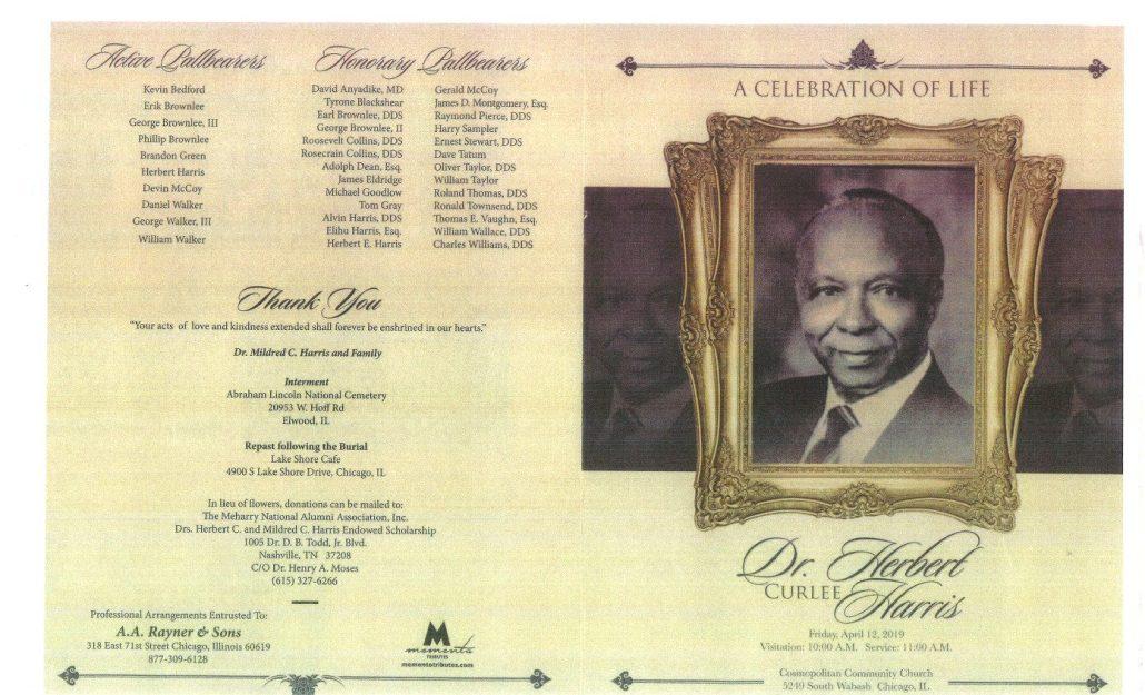 Dr Herbert C Harris Obituary