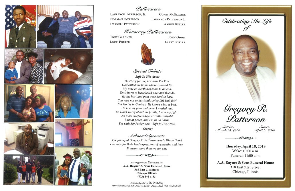 Gregory R Patterson Obituary
