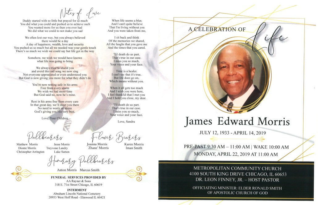 James Edward Morris Obituary
