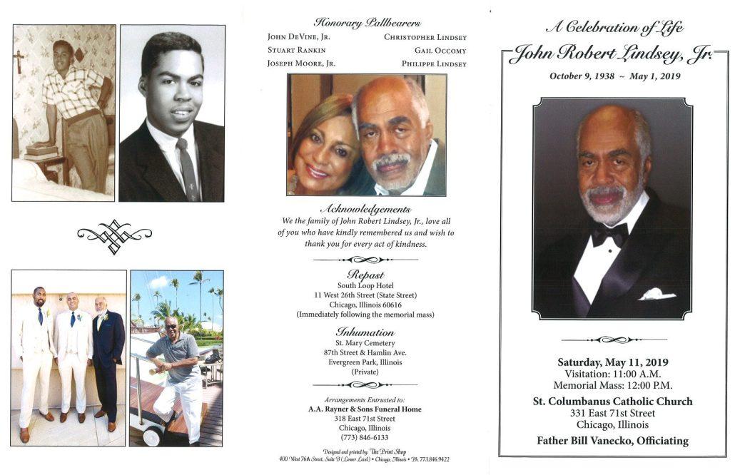 John Robert Lindsey Jr Obituary