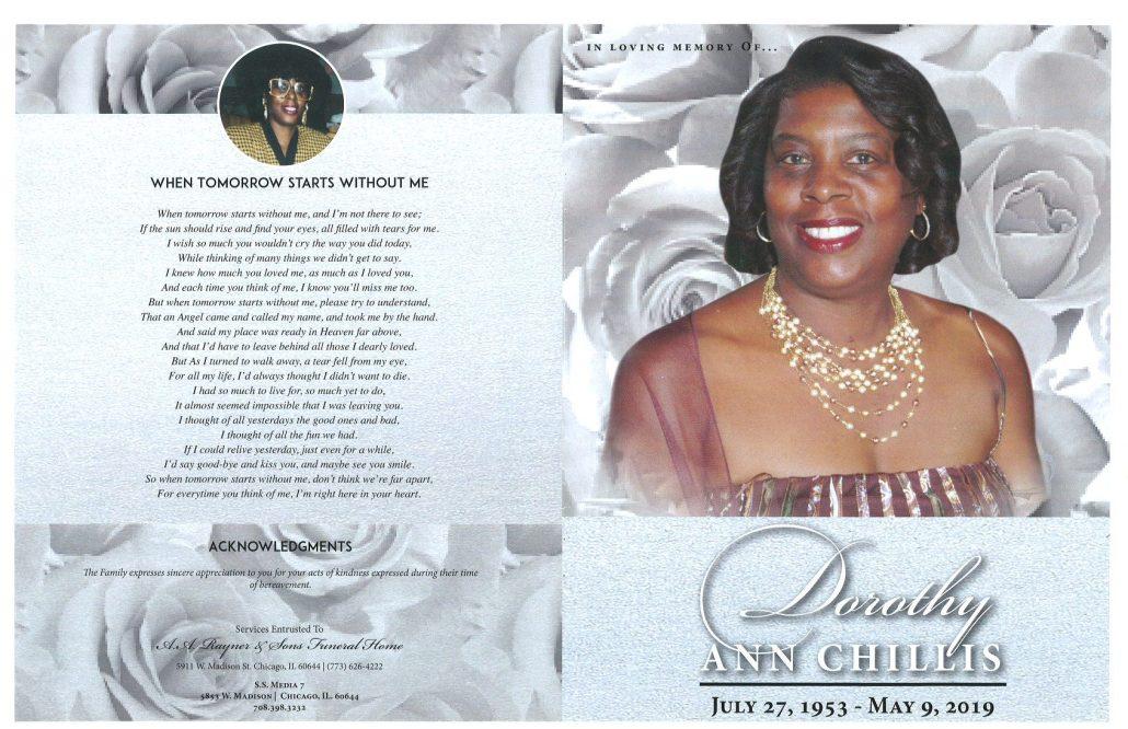 Dorothy Ann Chillis Obituary