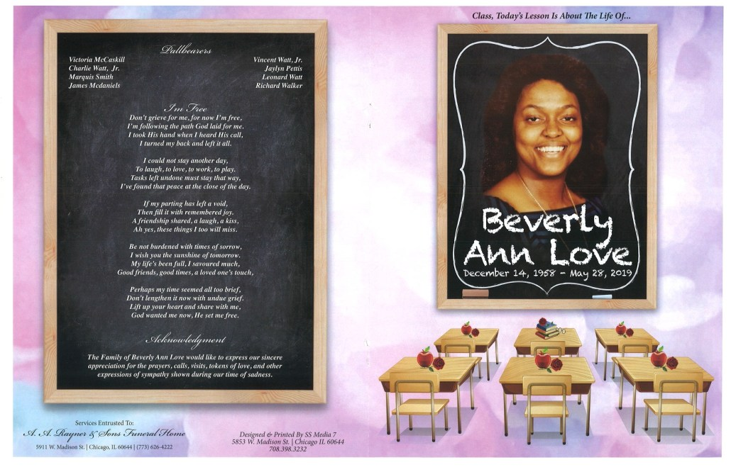 Beverly Ann Love Obituary