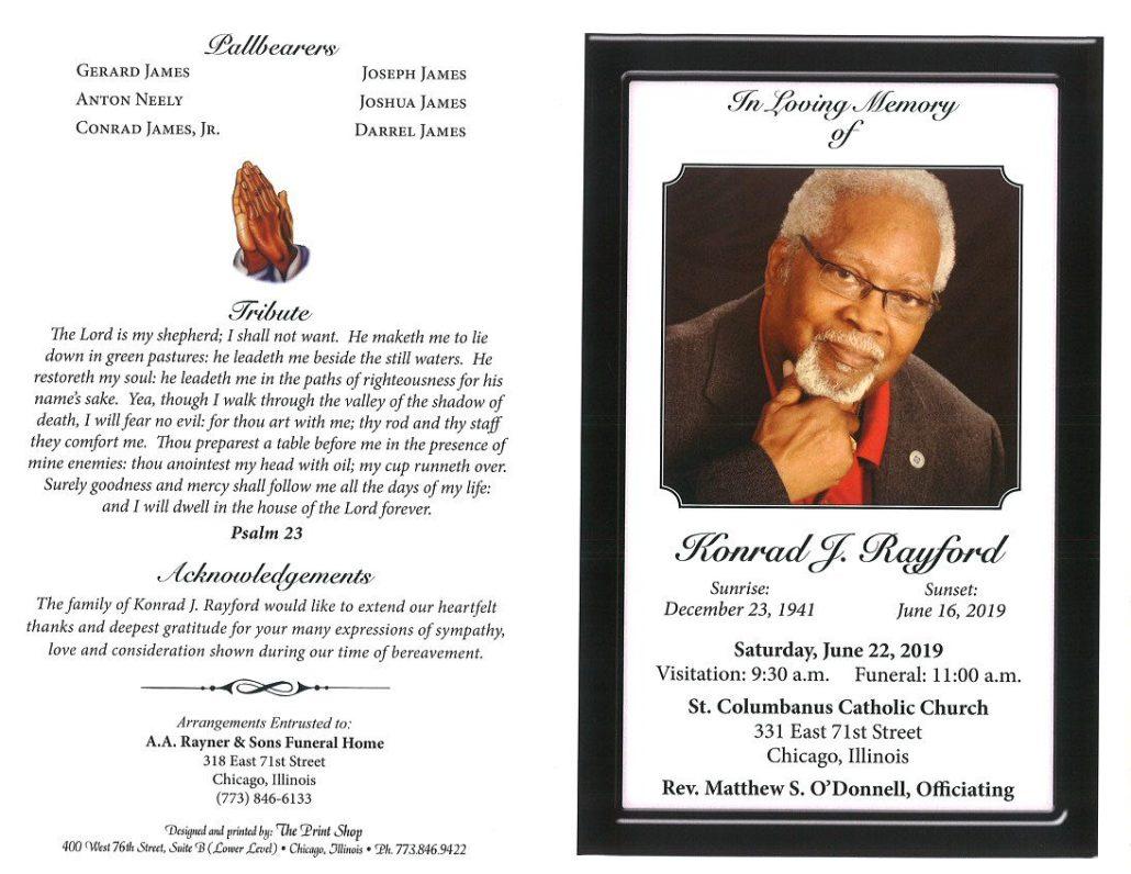 Konrad J Rayford Obituary