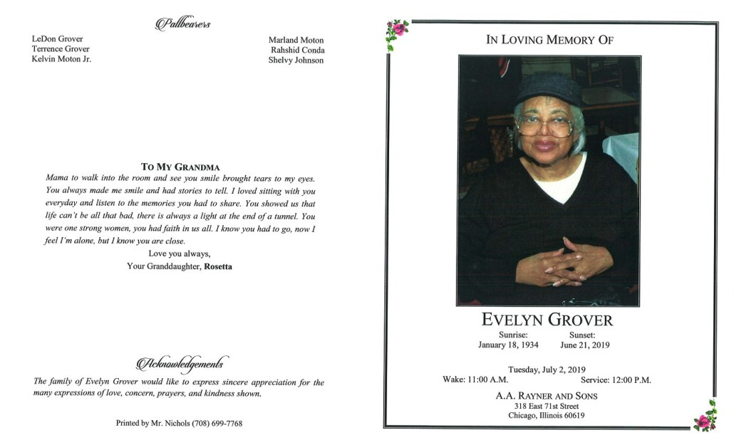 Evelyn Grover Obituary