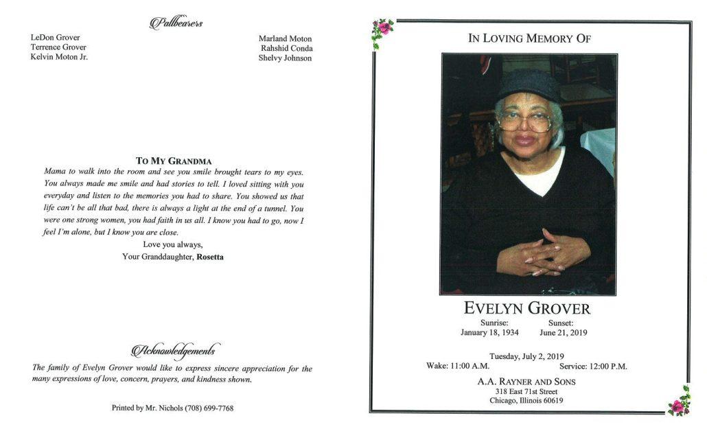 Evelyn Grover Obituary