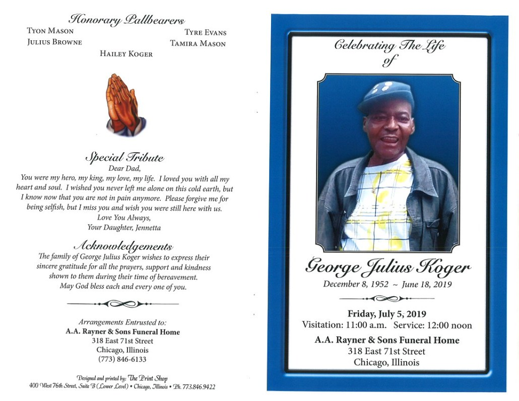 George Julius Koger Obituary