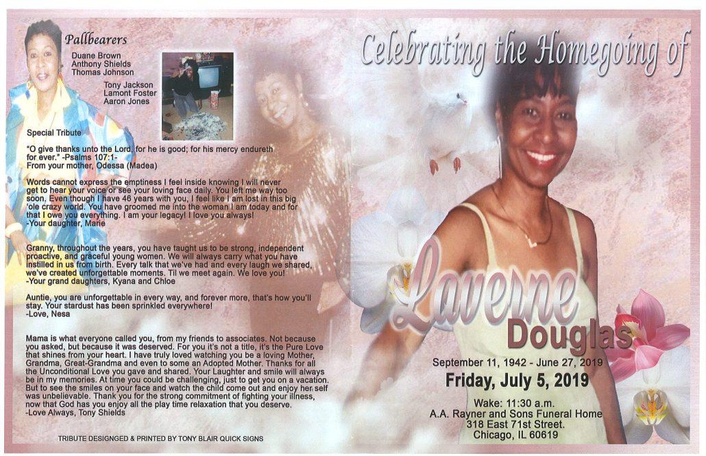 Laverne Douglas Obituary
