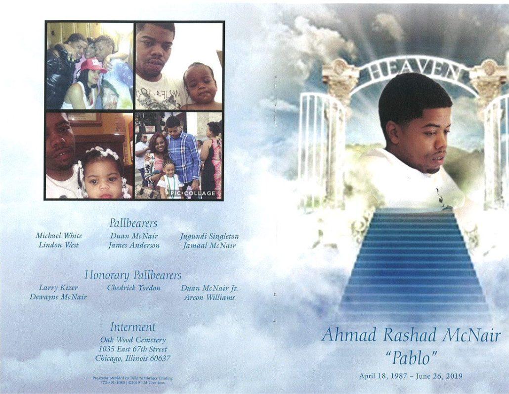 Ahmad R Mcnair Obituary