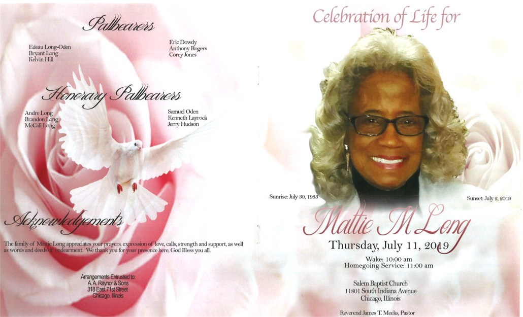 Mattie M Long Obituary