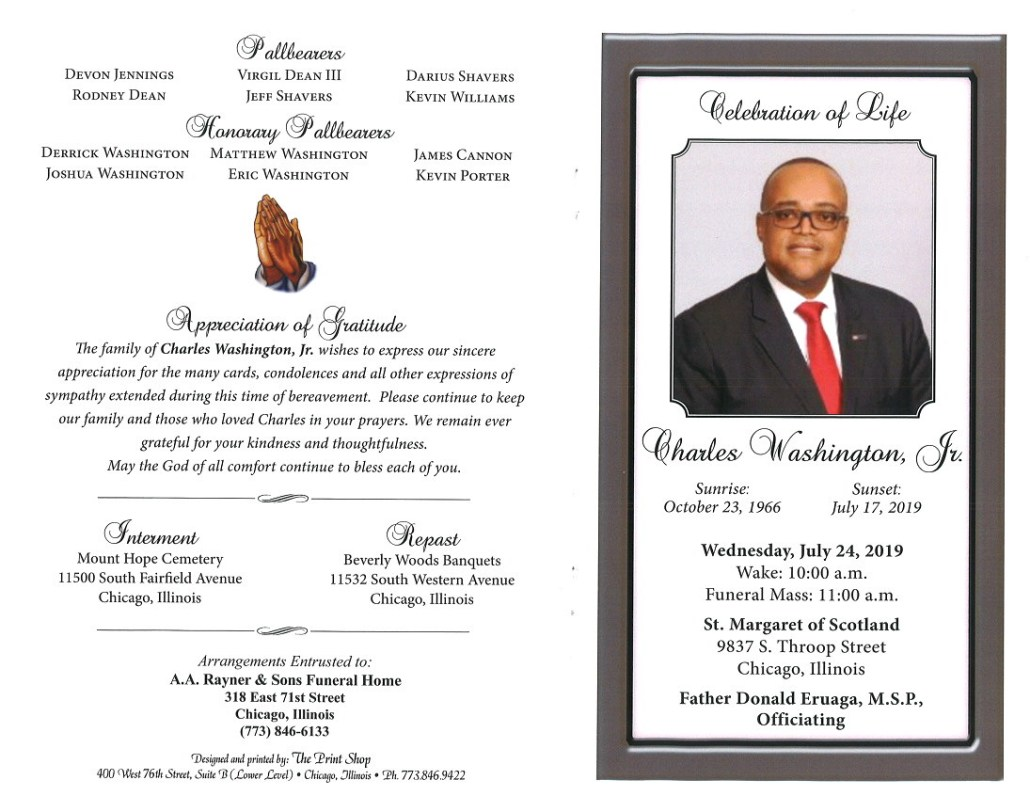 Charles Washington Jr Obituary