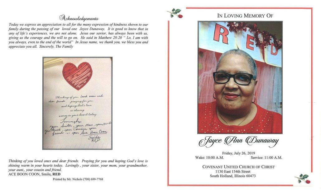 Joyce Ann Dunaway Obituary
