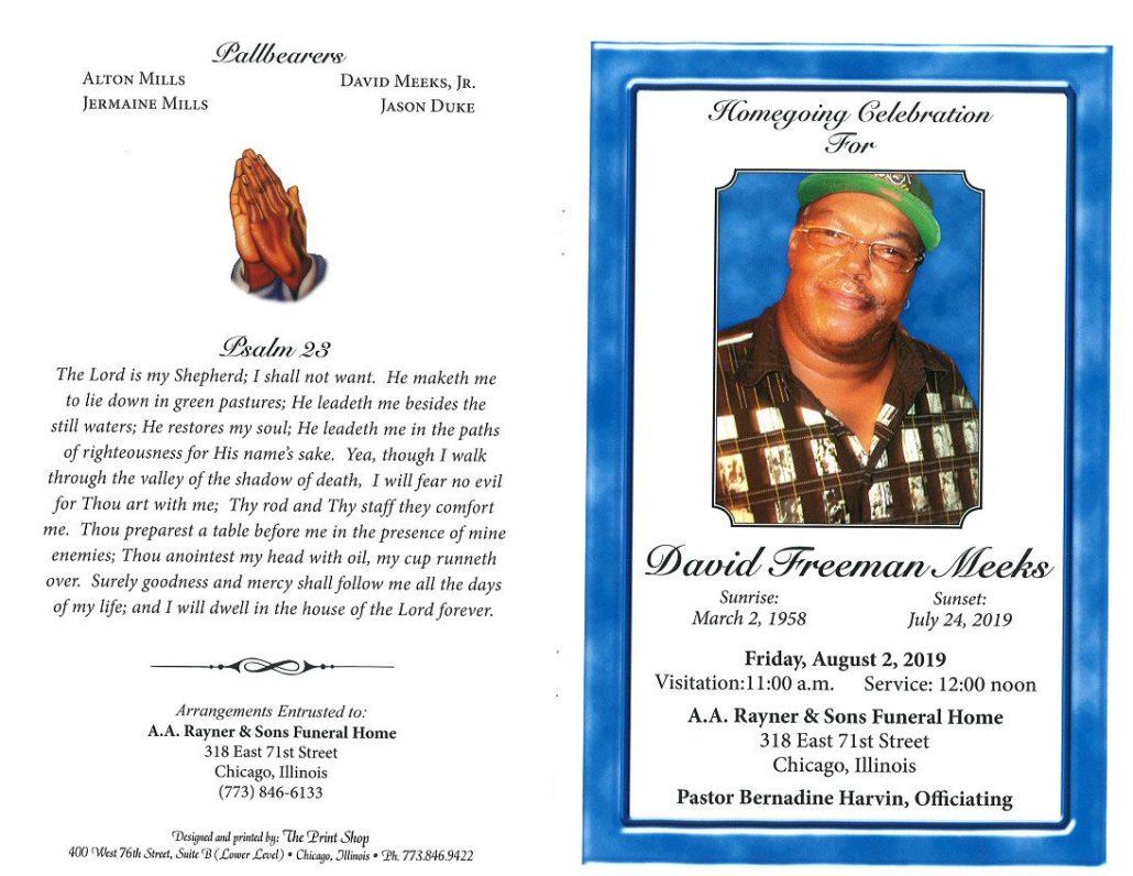 David F Meeks Obituary
