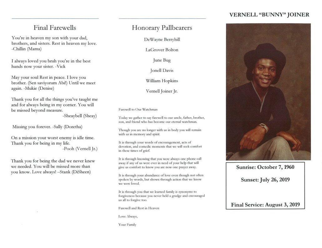 Vernell Joiner Obituary