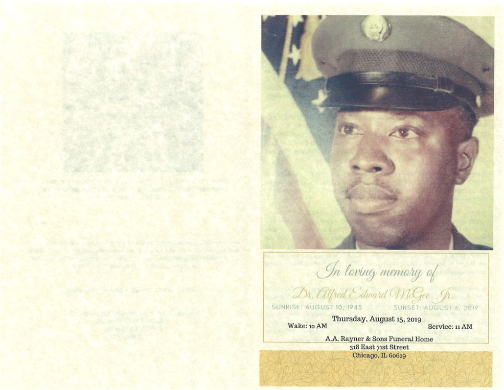 Dr Alfred E Mcgee Jr Obituary