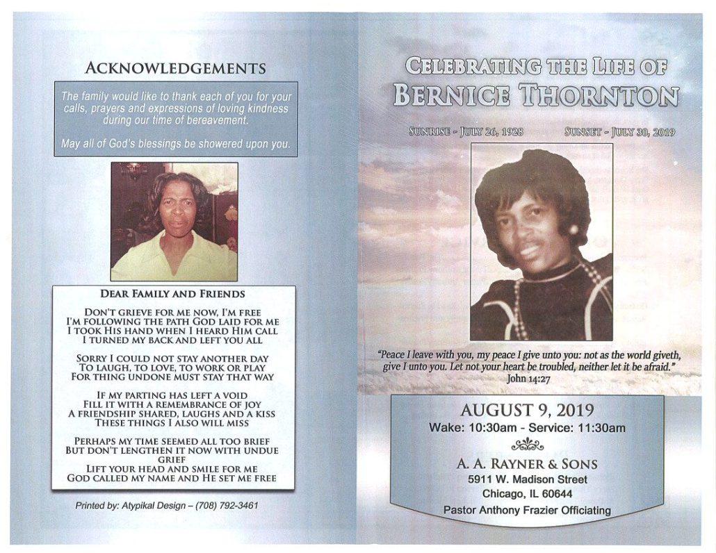 Bernice Thornton Obituary