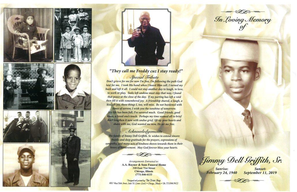 Jimmy D Griffith Sr Obituary