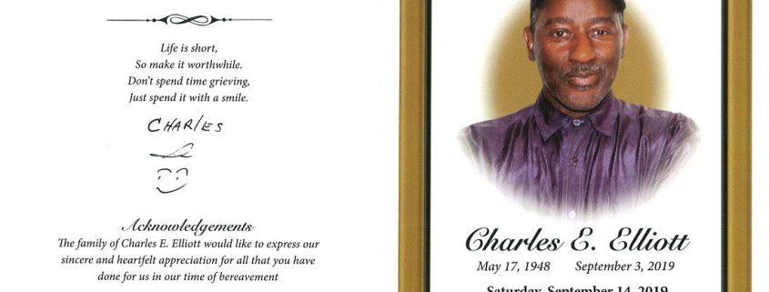 Charles E Elliott Obituary