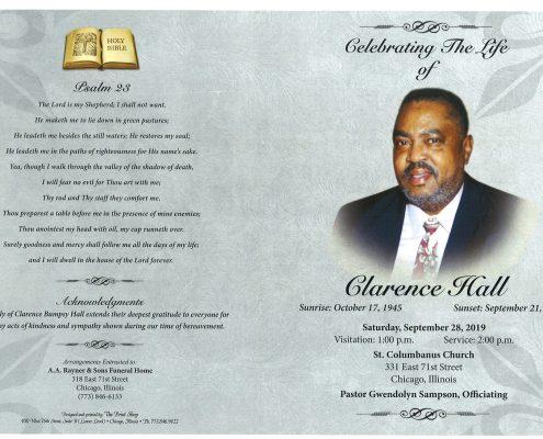 Clarence Hall Obituary